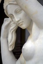 Artistic And Classical Statue Depicting A Woman.