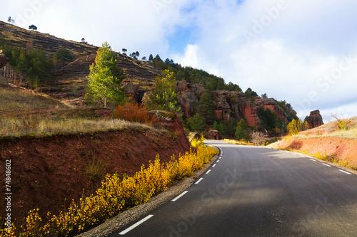 Papiers peints Cote road through the rocks