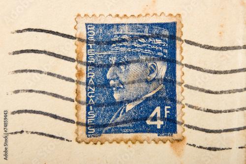 Fotografía  Vintage French postage stamp