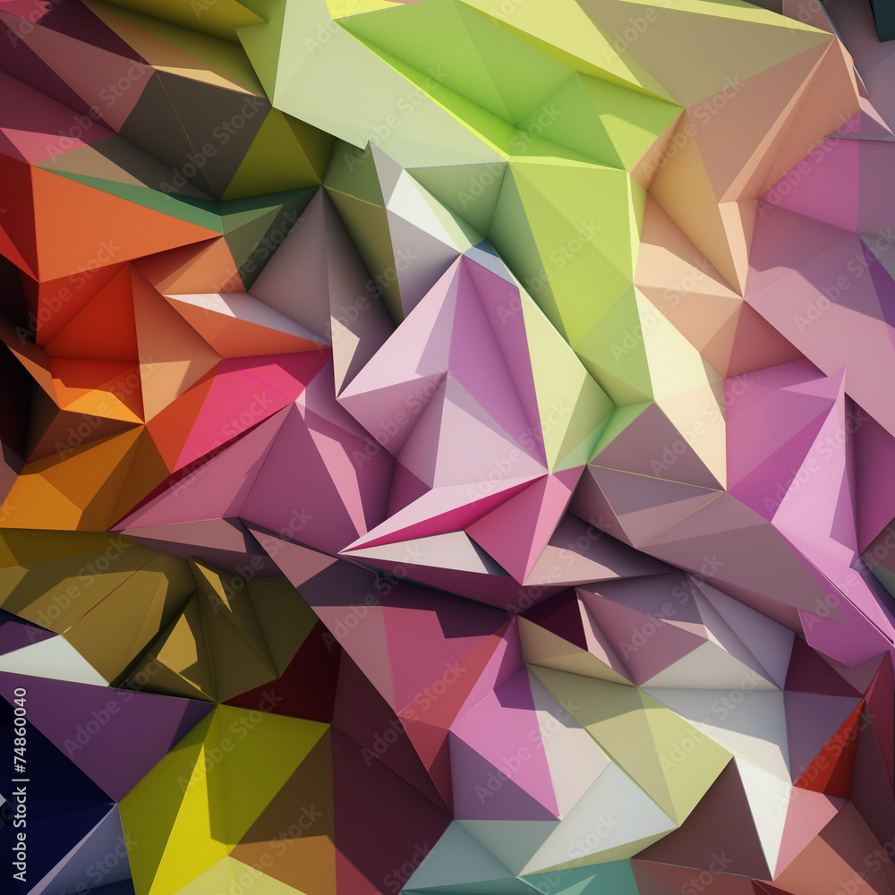 Abstract geometric low poly background.