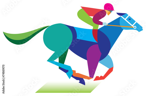 horserace Fototapeta