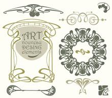 Art Nouveau Desing Elements
