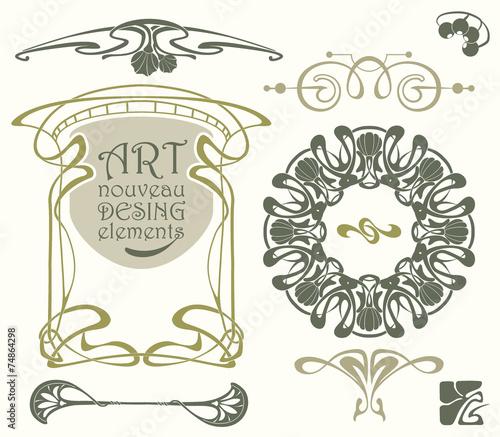Art nouveau desing elements Wall mural