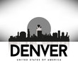 Denver USA Skyline Silhouette Black vector