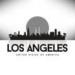 Los Angeles USA Skyline Silhouette Black vector