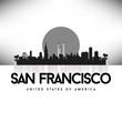 San Francisco USA Skyline Silhouette Black vector