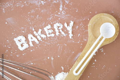 Fotografie, Obraz  bakery wording
