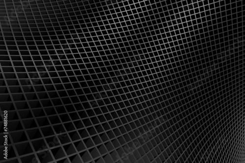 Türaufkleber Darknightsky Abstract bend shiny metal background