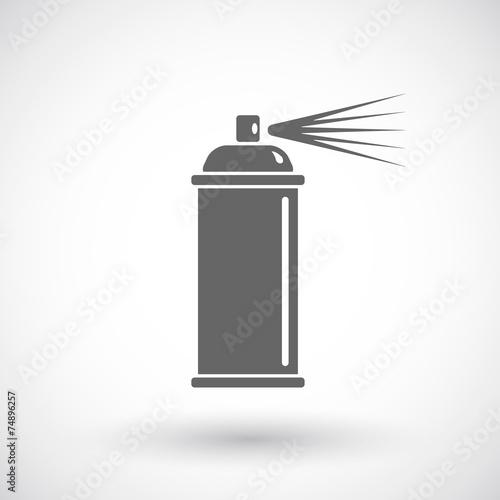 Photo  Spray paint line icon