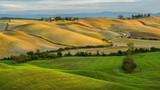 Toscania , Włochy,  Multipulcjano, krajobraz wiejski