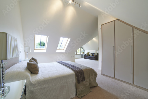 Valokuva  Interior View Of Beautiful Luxury Bedroom
