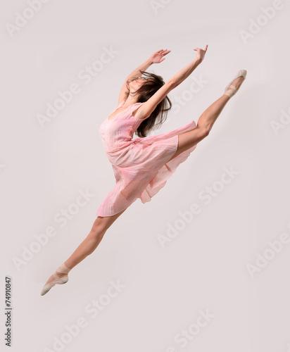 fototapeta na lodówkę skoki dziewczyna balet tancerz zawodowy