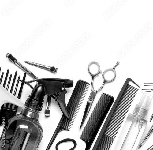 Obraz na plátně  hairdresser tools