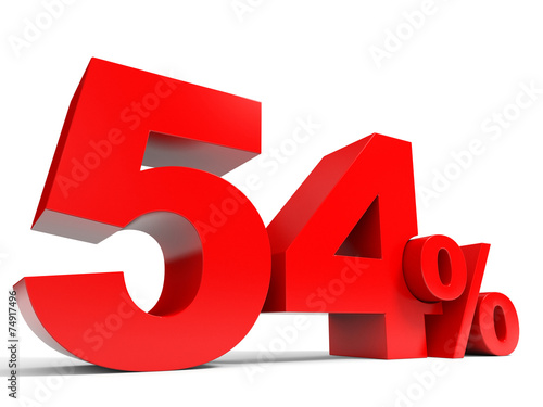 Poster  Red fifty four percent off. Discount 54%.