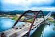canvas print picture - Pennybacker Bridge, Austin, Texas