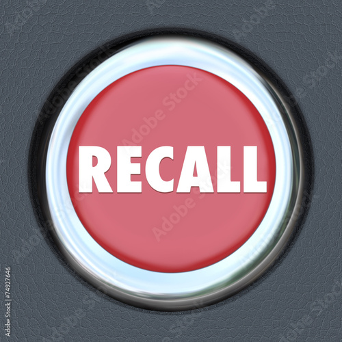 Fotografia, Obraz  Recall Car Ignition Button Vehicle Repair Fix Defective Lemon