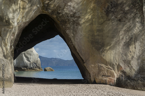 Spoed Foto op Canvas Cathedral Cove Cathedral Cove. New Zealand