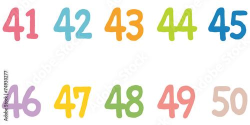 Fotografia  カラフルな数字 40番代
