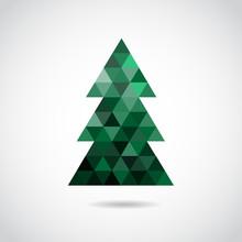 Christmas Tree VECTOR Icon.