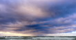 Stormy clouds above Baltic sea