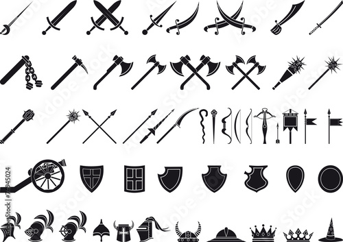 Canvas Print medieval weapons