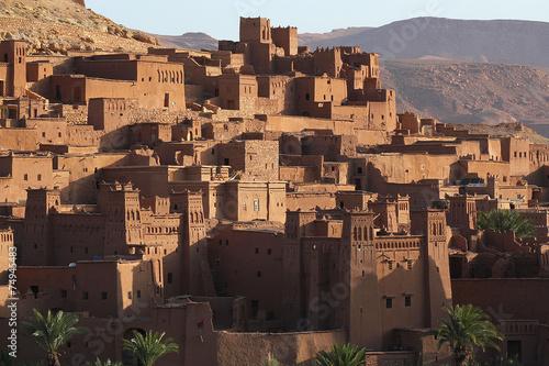 Fotografía  Kasbah de Aït Benhaddou, fortified town of adobe, Ouarzazate.