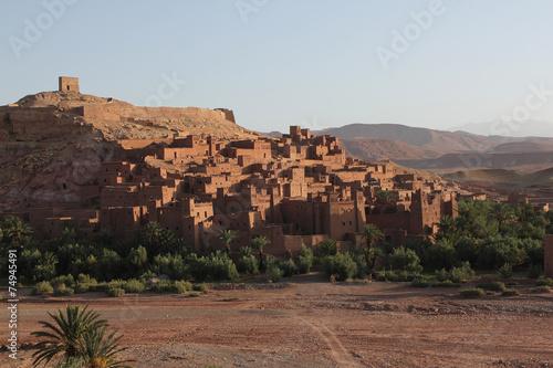 Papiers peints Maroc Kasbah de Aït Benhaddou, fortified town of adobe, Ouarzazate.