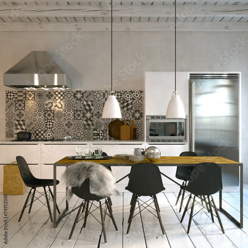 skandinavische kche in altbau loft scandinavian style kitchen - Skandinavische Design Sthle