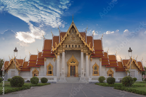 Famous Thai Temple Wat Benjamaborphit, Bangkok Poster
