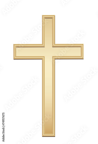 Fotografía  Golden cross. Vector