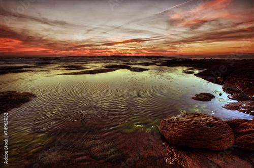 Papiers peints Marron chocolat rocce, mare e tramonto