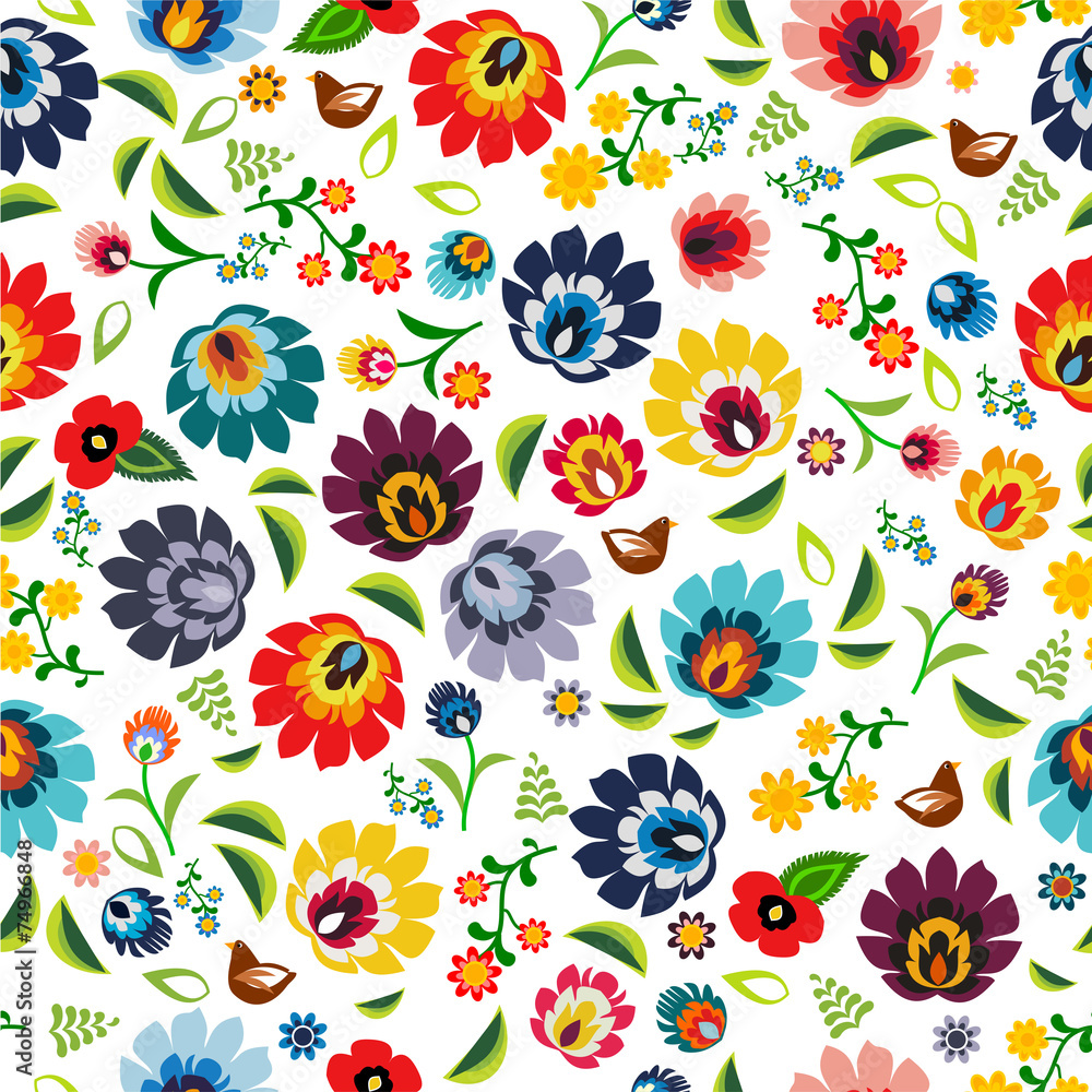 Polish folk pattern vector