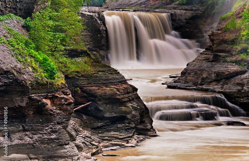 Fotografía  Lower Falls, at Letchworth State Park, New York