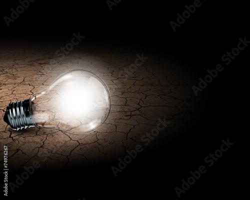 Printed kitchen splashbacks Theater Light bulb