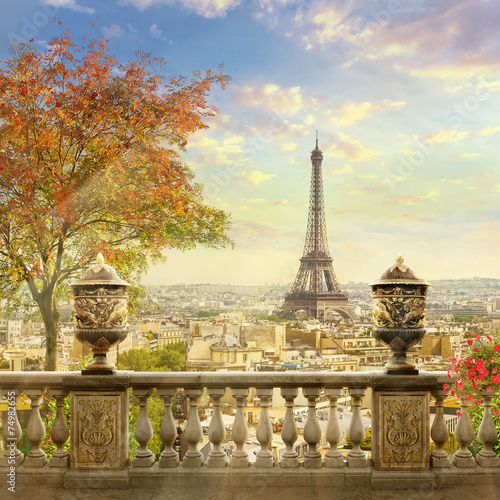 Spoed Foto op Canvas Parijs panorama of Paris