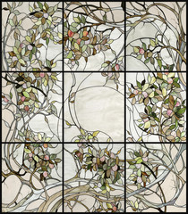 Fototapetafloral stained glass