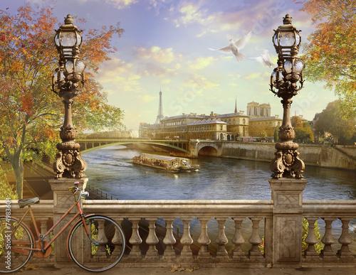 Papiers peints Paris the Seine, Notre Dame de Paris,