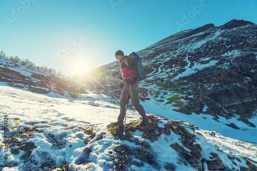 Fototapeta Hike in Glacier obraz na płótnie
