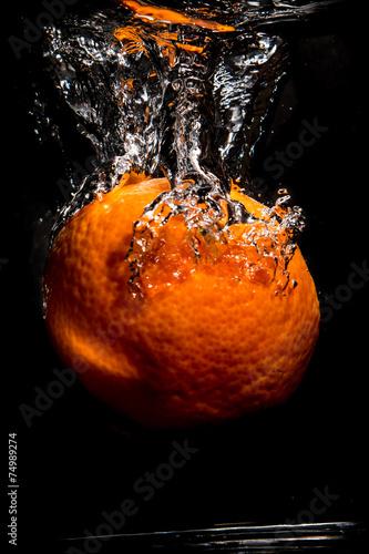 Poster Fruit Orange bubbles