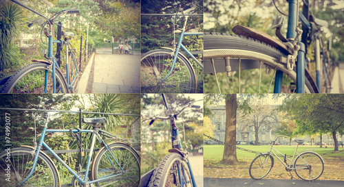 Deurstickers Fiets Bike vintage set