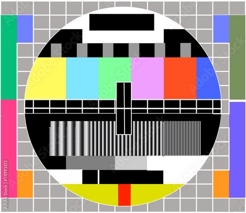 Fototapeta Tv Signal Vector obraz na płótnie