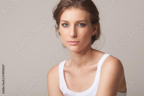 Fotografie, Obraz  Studio portrait of a sexy young brunette woman