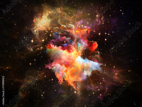 Fototapeta Digital Space obraz na płótnie