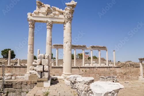 Printed kitchen splashbacks Turkey Pergamum. Ruins of the Temple of Trajan, 118 AD