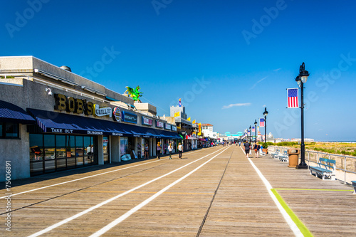The boardwalk in Ocean City, New Jersey.