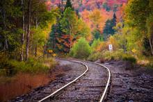 Autumn Color Along A Railroad ...