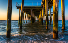 Fishing Pier And Waves On The ...
