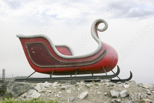 Poster Arctic Santa's sleigh in Ilulissat, Greenland.