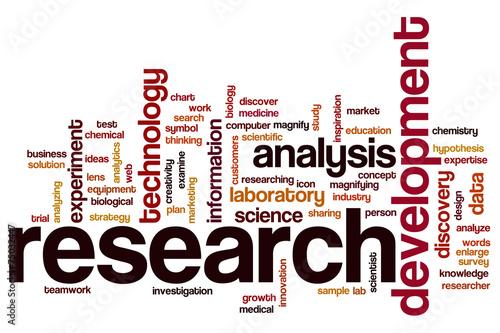 Fotografija  Research word cloud