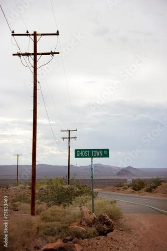 Leinwand Poster  Desert road